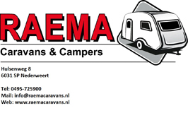 Logo Raema Caravans & Campers incl. adres